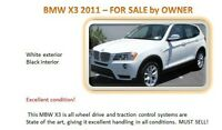 2011 BMW X3 SUV, Crossover Must Sell!!