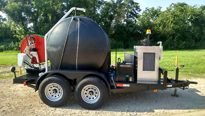 Trojan High Volume Trailer Mounted Sewer Drain Jetter 50 Hp 525 Gallon Tank