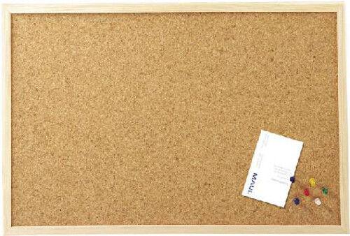 Maul Pinnwand 80 x 60 cm Kork mit Holzrahmen inkl. Pinn-Nadeln 2706070