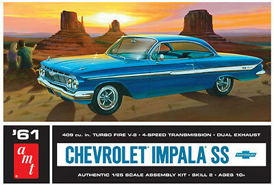 AMT 1/25 1961 Chevy Impala SS Bubble Roof Plastic Model Kit 1013