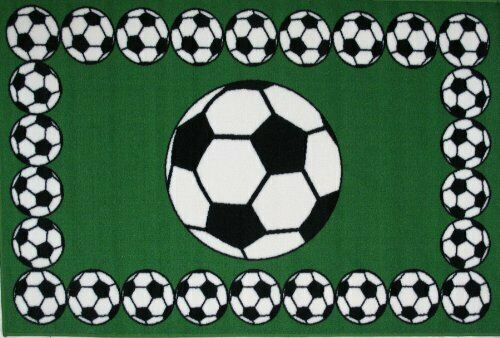 """Soccer Time Accent Rug, 19-Inch by 29-Inch 19"""" x 29"""""""