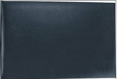 7-Ring 3-on-a-Page Business Check Book Binder with Vinyl Pouch Blue *NEW*