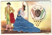 Spanish Embroidered Postcard