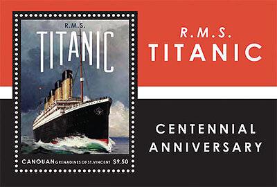 Canouan 2012 - R.M.S 100th Anniversary Titanic - Souvenir Sheet MNH
