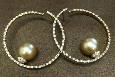 (Solid 925 Sterling Silver Cocktail Party Pearl Round Wedding Dangle Earring )