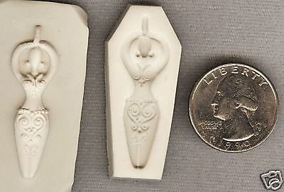 FANCY GODDESS Lady Polymer Clay Push Mold Must See