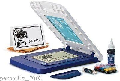 Yudu Cardshop Personal Card Screen Printer Machine Bundle Set Lot New W Ink