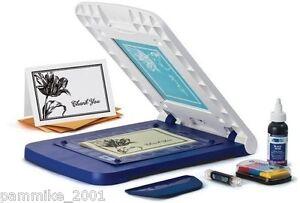 YUDU-CARDSHOP-PERSONAL-CARD-SCREEN-PRINTER-MACHINE-BUNDLE-SET-LOT-NEW-w-INK