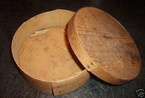 medium antique round shaker pantry box