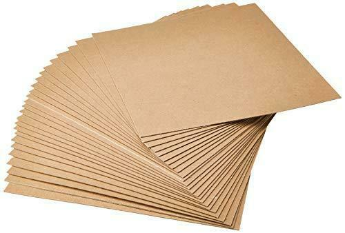 Grafix Medium Weight Chipboard Sheets, 12-Inch by 12-Inch, Natural, 25-Pack