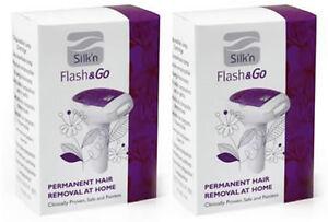 Lampeneinsatz für Silk`n Silkn Flash&Go (Lichteinsatz)- 2er Set 2000 IMPULSE