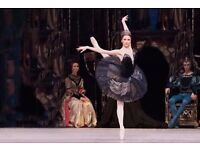 Two tickets to Swan Lake (Bolishoi Theatre) at Royal Opera House