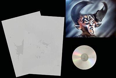 Step by Step Airbrush Schablone / Stencil 0590 Satan mit Anleitungs CD