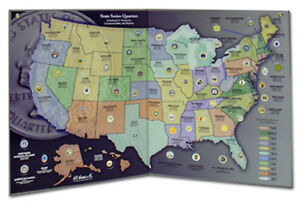 50 STATE SERIES QUARTERS COLLECTOR'S  MAP & 2009