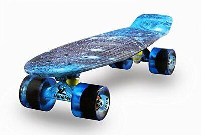 MEKETEC Skateboards Complete Mini Cruiser Retro Skateboard for Kids Boys Youths