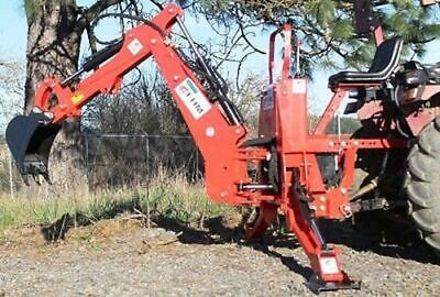 Tractor Backhoe 7dig 3-pt Self Contained Pto Powered Cat.i 30hp Fh-bh7