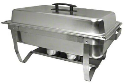 Stainless Steel Easy Store Mirror Polish Chafer Chafing Dish Folding Stand 8Qt - Chafing Dish Stand