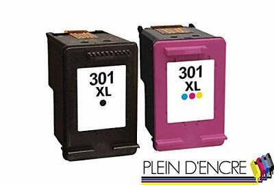 Pack 2 cartouches d'imprimante type hp 301 xl pour hp deskjet 3050