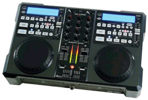 DJ CD  PLAYER AND MIXER  COMBO  AMERICAN AUDIO