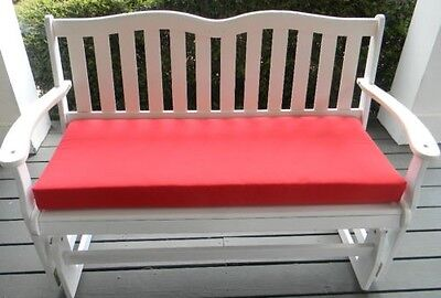 "Red Cushion for Bench ~ Swing ~ 3"" thick foam ~ Select Size"