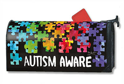 Magnetic Mailwraps  Autism Aware Mail Wrap   01354