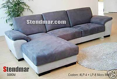 NEW MODERN EURO DESIGN FABRIC SECTIONAL SOFA S680M