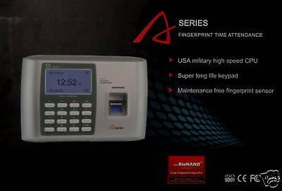 Employee Payroll Fingerprint Swipe Network Attendance Time Clock A20