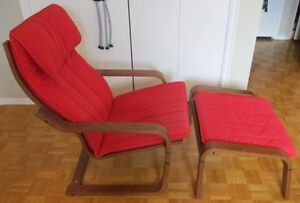 IKEA POANG Armchair and Stool