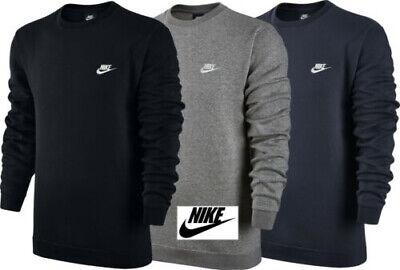 Nike Men's  Sports Club Crew Neck Sweatshirt Cotton Training Top Jumper Sports