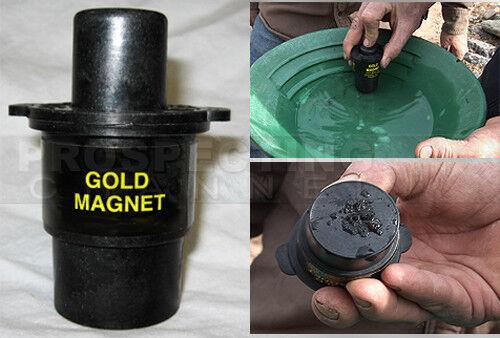 GOLD Prospecting MAGNET removes Black Sand Iron pan