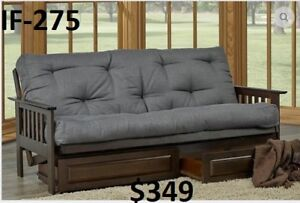GREAT PRICES - HUGE VARIETY OF STYLES & COLOURS OF FUTONS!