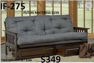 GREAT PRICES - HUGE VARIETY OF STYLES & COLOURS OF FUTONS