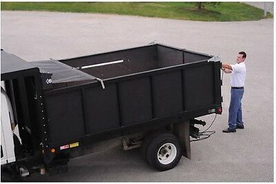 Self Retracting Spring Assist Dump Truck Tarp System Wmesh Tarp