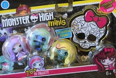 Monster High Minis #5 Toy Figure (3 Pack) New