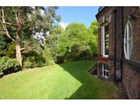 LARGE CHARACTER GARDEN FLAT, 1 BED, QUIET, SECURE & LEAFY AREA WITH PARKING FOR SINGLE OR COUPLE