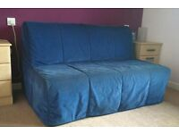 BLUE COVER for Ikea Lycksele Double Sofa Bed
