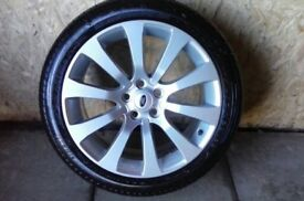ALLOYS X 4 OF 20 INCH GENUINE RANGEROVER AUTOBIOGRAPHY FULLY POWDERCOATED IN A STUNNING SILVER NICE