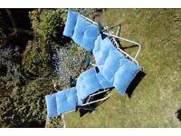 Sun lounger cushion medium blue,