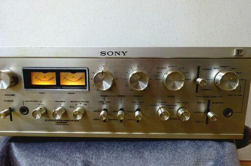 Vintage Sony Stereo Preamplifier Solid State TA-2000F Very Good