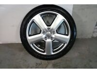 ALLOYS X 4 OF 18 INCH GENUINE AUDI A3/RS/6 FULLY POWDERCOATED INA STUNNING SHADOW/CHROME NICE ALLOYS