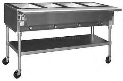 Eagle Group Spdht2 Dual Well Mobile Electric Hot Food Table W Ss Shelf Legs