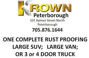 Krown Rust Control - Ptbo Rust Proofing - Large SUV/Large Van or 3 or 4 Door Truck