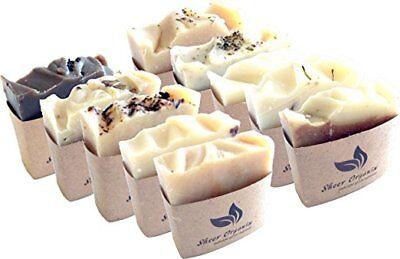 Sheer Organix Luxury Rejuvenative Herbal Soap 3.5 oz, (2 Pack) 10 Scent Sampler