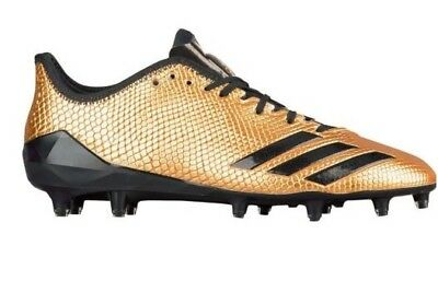 Adidas Adizero 5 Star 6.0 Gold Snakeskin Football Cleats Kicks 14 Mens