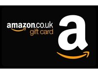 Amazon gift cards/vouchers wanted