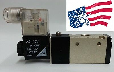 New 14 Npt Pneumatic 3 Way 2 Position Electrical Solenoid Air Valve 110vac