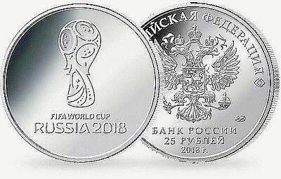 Russia 2018 World Cup Rubles Coin Silver Memorabilia Soviet Union CCCP USSR Logo