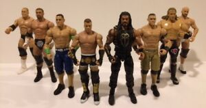 9 WWE WWF WRESTLING ACTION FIGURES ADULT OWNED ONLY $45