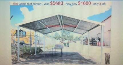 gable carport     6  x   6     $  1680