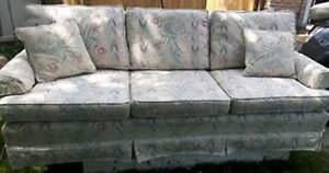 White Floral Couch and Matching Chair